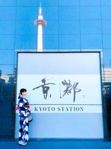 着物と京都駅