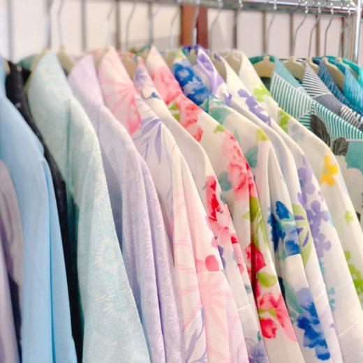 夏の涼し気な浴衣(宇治平等院店)