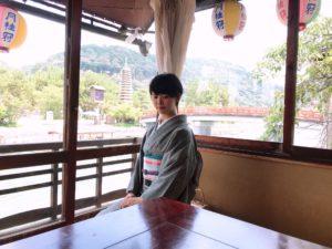 アンティーク着物で京都の宇治散策