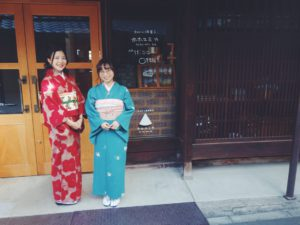 アンティーク着物と名古屋帯コーデで京都の宇治散策