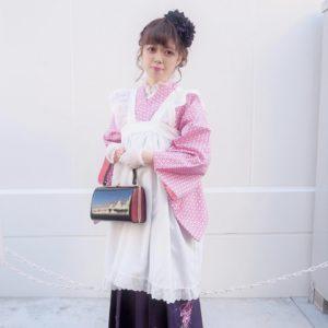 大正浪漫袴コーデに着物専用オリジナルエプロン